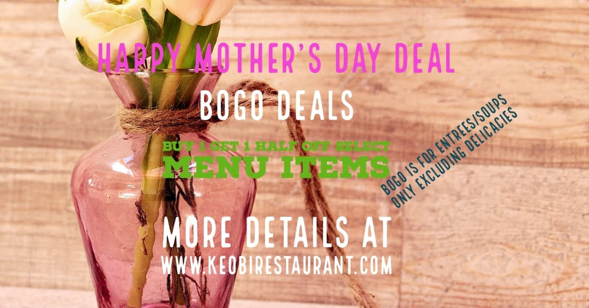 Mother's Day 2021 BOGO Deals | How to Treat Your Mom to a Great Meal
