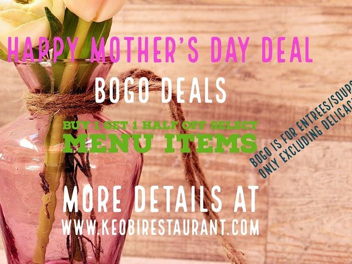Mothers Day BOGO Meal Deal